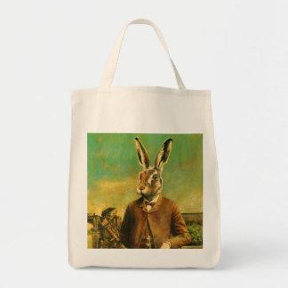 Victorian Hare Tote Bag