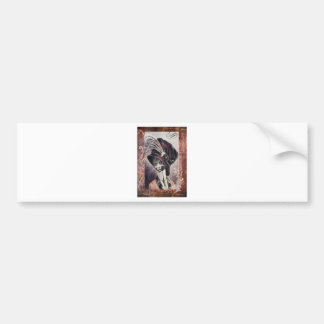 Victorian Hat Cat Woman Feather Bumper Sticker