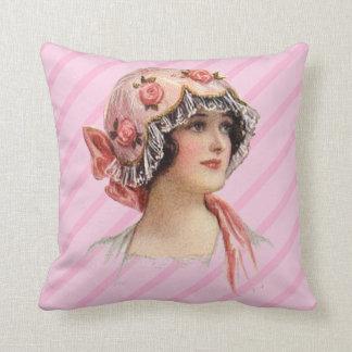 Victorian Hat Fashion Throw Pillow