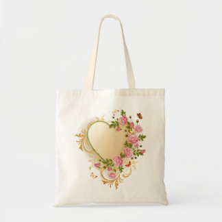 Victorian Heart Budget Tote Bag