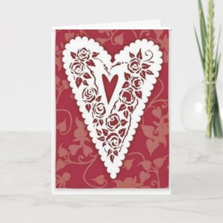 Victorian Heart Lace Card