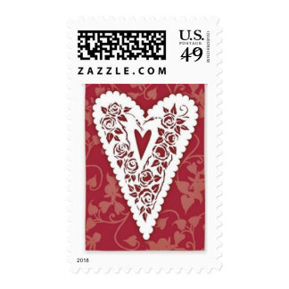 Victorian Heart Lace Postage
