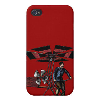 Victorian Helicopter Aircraft Contraption iPhone 4 Cases