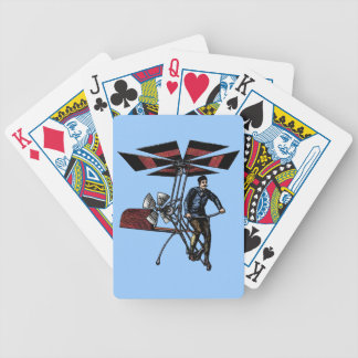Victorian Helicopter Aircraft Contraption Bicycle Card Deck