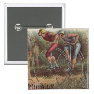 Victorian High Wheel Bicycles Button