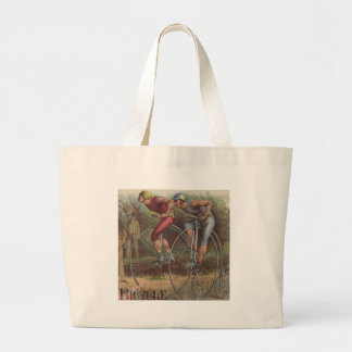Victorian High Wheel Bicycles Jumbo Tote Bag