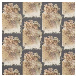 Victorian Holiday Fashion Vintage Chrismas Fabric
