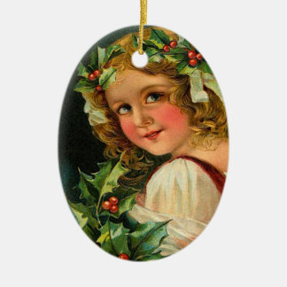 Victorian Holly Christmas Ornament
