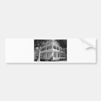 Victorian Home in Black & White Bumper Sticker