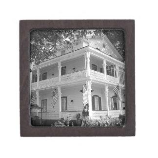 Victorian Home in Black & White Jewelry Box