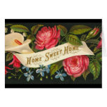 Victorian Home Sweet Home Roses Greeting Card