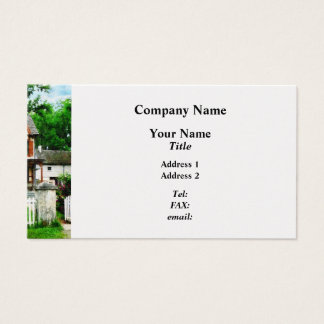 Victorian Home With Open Gate Business Card