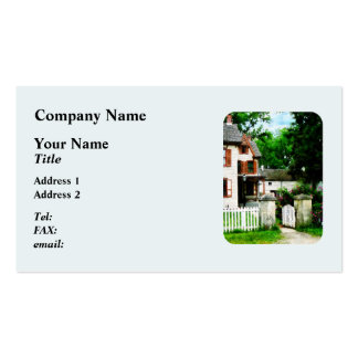Victorian Home With Open Gate Business Card Template