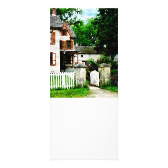 Victorian Home With Open Gate Rack Card