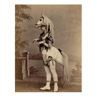 Victorian Horse Costume Daguerreotype/Photo Postcard