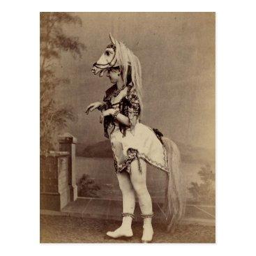 VivaVictorian Victorian Horse Costume Daguerreotype/Photo Postcard