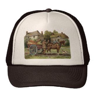 Victorian Horse Drawn Apple Cart Trucker Hat