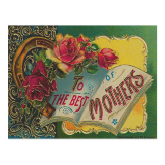 Victorian Horseshoe Mother's Day Card Post Card