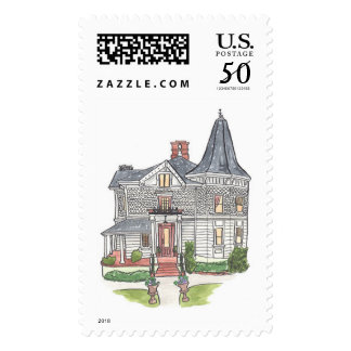 Victorian House at Park Winters Watercolor Stamps