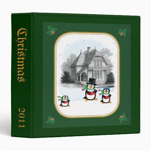 Victorian House & Caroling Penguins Binder