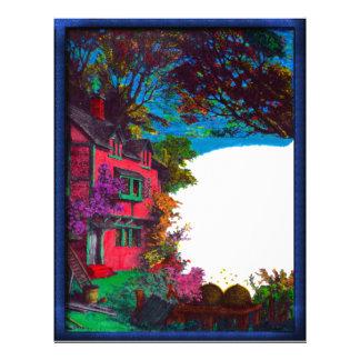 Victorian House Fall Art Letterhead