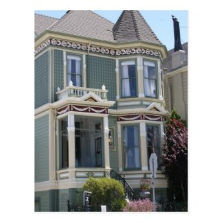 Victorian House in San Francisco Postcard
