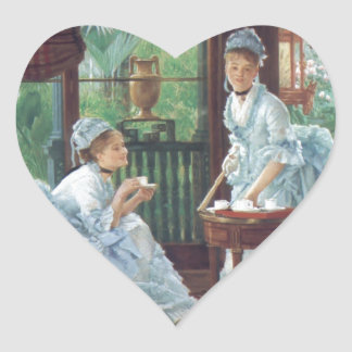 Victorian House Party Tea Fashion Tissot Heart Sticker