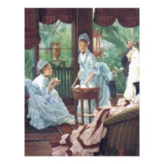 Victorian House Party Tea Fashion Tissot Letterhead