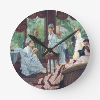 Victorian House Party Tea Fashion Tissot Round Clock