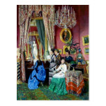 Victorian House Party Women Men Music Painting Postcard at Zazzle