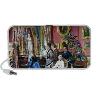 Victorian House Party Women Men Music painting iPhone Speakers