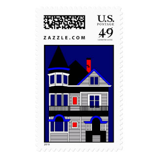 Victorian House Postage Stamps
