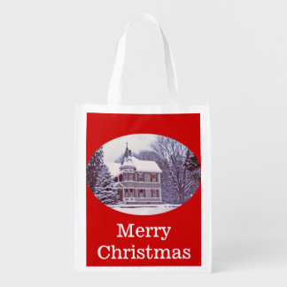 Victorian House Reusable Grocery Bag