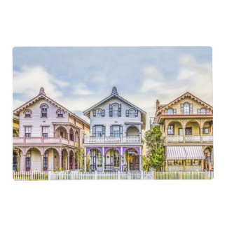 Victorian House Row Laminated Placemats