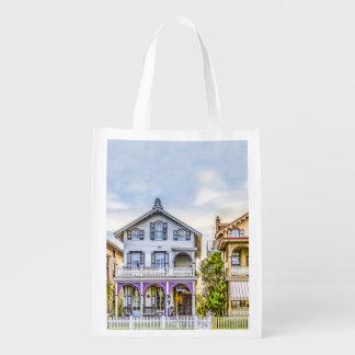 Victorian House Row Reusable Bag Reusable Grocery Bag