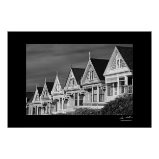 Victorian Houses on Steiner Street, Alamo Square, Print