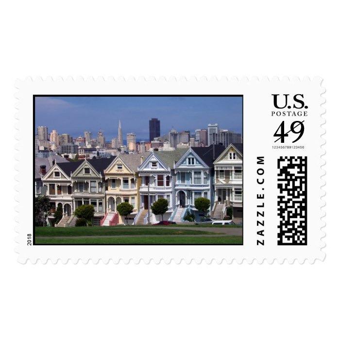 Victorian Houses Postage Stamp