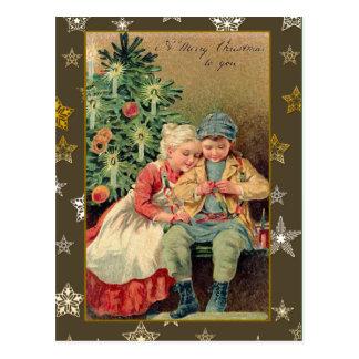Victorian Illustration on Christmas Cards Postcard