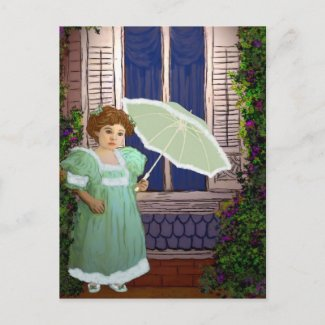 Victorian in Green postcard
