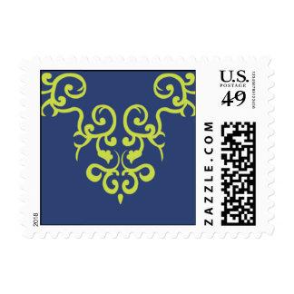 Victorian in Navy Postage Stamp