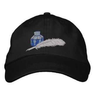 Victorian Ink and Quill Pen Embroidered Baseball Cap