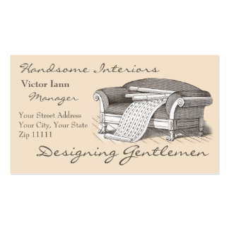 Victorian Interiors for Designer Decorator Double-Sided Standard Business Cards (Pack Of 100)