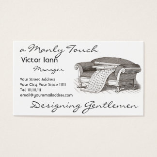 Victorian Interiors for Designer Decorator Business Card