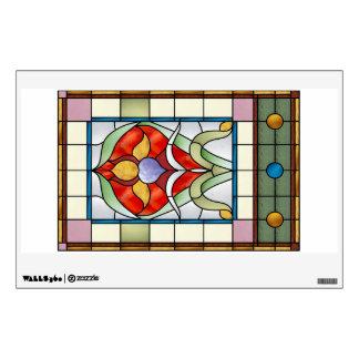 Victorian Iris Window or Wall Decal