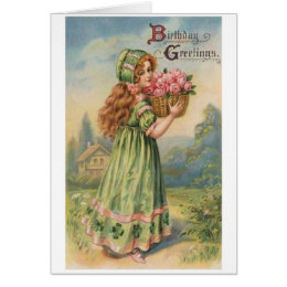 Victorian birthday cards greeting photo cards zazzle victorian irish girl birthday card bookmarktalkfo Images