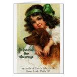 Victorian Irish Setter St. Patrick's Day Card