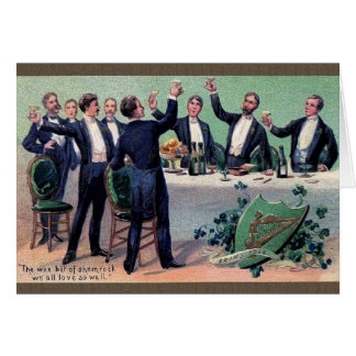Victorian Irish Toast St. Patrick's Day Card