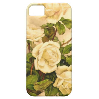 Victorian Ivory Rose Painting iPhone SE/5/5s Case