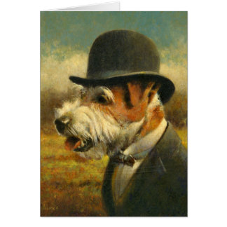 Victorian Jack Russell Greetings Card