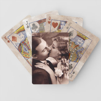Victorian Kissing Couple Bicycle Playing Cards